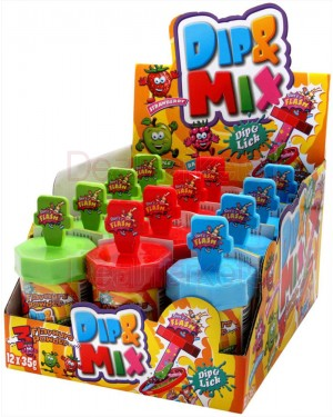 Dip & mix καραμέλες που σκάνε στο στόμα 35gr display 12τεμ