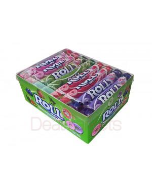Roll candy καραμέλες φρούτων 24gr display 24 τεμ