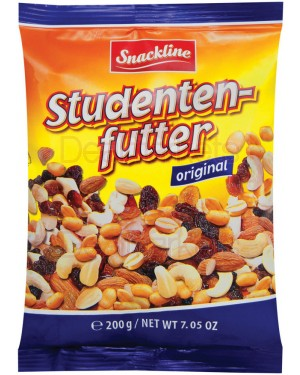 Snackline ξηροί καρποί trail mix 200gr (cassius - αμύγδαλα - σταφίδες - peanuts)