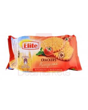Elite crackers μεσογ. ντομάτα & βασιλικό 105gr