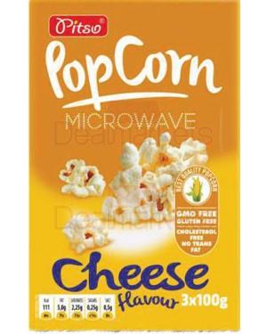 Pitso ποπ κορν με τυρί για φούρνο μικροκυμάτων 100gr display 15tem