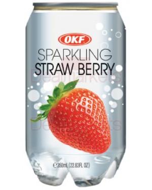 Okf ανθακούχο νερό με γεύση φράουλα 350ml