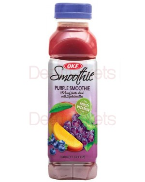 Smoothie Okf grape, raspberry, mango 350 ml (Μωβ)