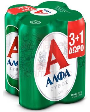 Άλφα beer (3+1δ) 500ml  κουτί