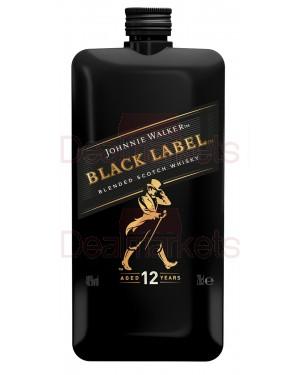 Johnnie walker black whisky pet pocket flask 200ml