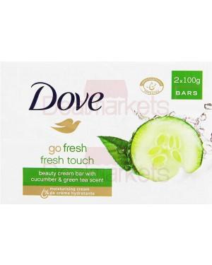 Σαπούνι Dove άγγιγμα φρεσκάδας 2 * 100gr (αγγούρι)