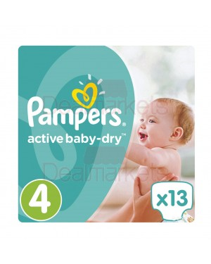 Pampers πάνες active baby dry no 4 (13 τεμ)