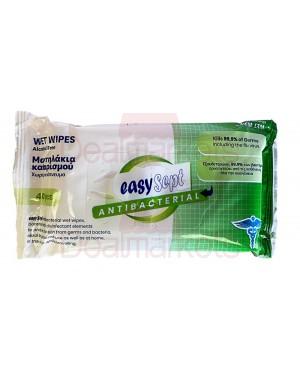Easysept αντισηπτικά-αντιβακτηριδιακά μαντηλάκια (kills 99.9%) 40pcs display 12tem