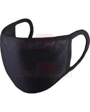 Μάσκα-μαντήλι 100% βαμβακερή πολλαπλών χρήσεων μαύρη 2tmx
