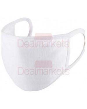 Μάσκα-μαντήλι 100% βαμβακερή πολλαπλών χρήσεων λευκή 2tmx