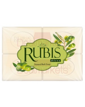 Rubis σαπούνι olive  4 * 125 gr