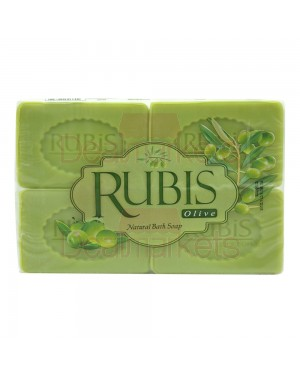 Rubis σαπούνι με ελαιόλαδο πράσινο 4x125gr
