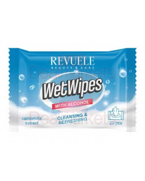 Revuele wet wipes αντισηπτικά αλκοολούχα μαντηλάκια με χαμομήλι 20τεμ