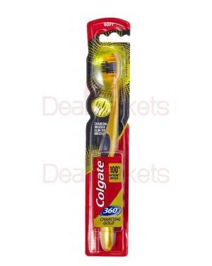 Colgate οδοντόβουρτσα 360 με άνθρακα χρυσή