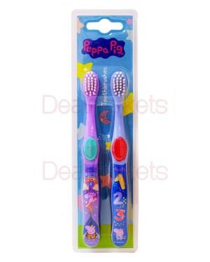 Peppa pig οδοντόβουρτσα 2τμχ
