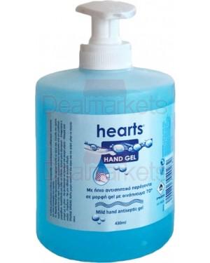 Hearts αντισηπτικό gel 500ml με αντλία
