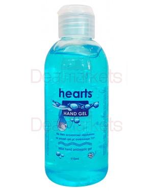 Hearts αλκοολούχο αντισηπτικό gel χεριών 110ml