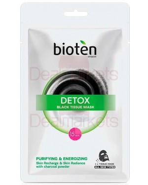 Bioten detox black tissue μάσκα προσώπου (μαντηλάκι) 20ml