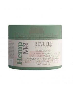 Revuele hemp me! κρέμα σώματος καρίτε, έλαιο καρύδας και κάνναβη 300ml
