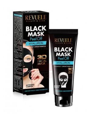 Μάσκα απολέπισης μαύρη Revuele Hyaluron 80ml