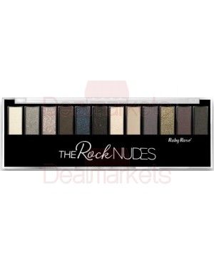 Ruby rose σκιά ματιών 12 χρώμα. & βάση - 9914