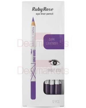 Ruby rose μολύβι ματιών 096 νο12 (dark lavender) display 12τεμ