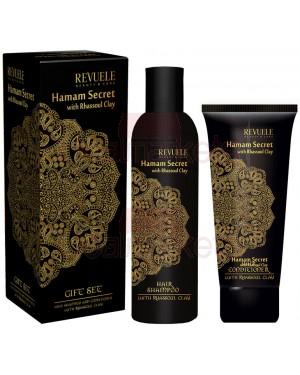 Revuele σετ δώρου hamam secret σαμπουάν & μάσκα με rhassoul πηλό