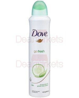Dove go fresh αγγούρι και πράσινο τσάι αποσμητικό spray 250ml (εισ.)
