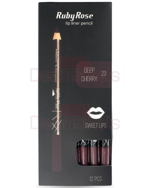 Ruby rose μολύβι χειλιών 095 νo23 (deep cherry) display 12τεμ