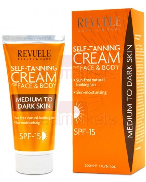 Revuele κρέμα μαυρίσματος προσώπου/σώματος για μεσαίο σκούρο δέρμα 200ml