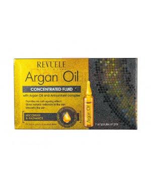 Revuele argan oil αμπούλες για λαμπερό & λείο πρόσωπο/λαιμό/ντεκολτέ 7x2ml