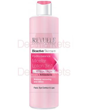 Revuele bioactive 3d γαλάκτωμα micellar 3σε1 me υαλουρονικό και αντιοξειδωτικά 200ml
