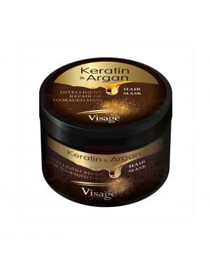 Μάσκα μαλλιών Visage με Keratin & Argan στα 500ml