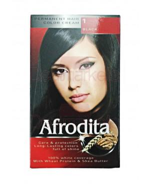 Afrodita βαφή μαλλιών 01 (μαύρο)