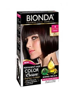 Βαφή μαλλιών μόνιμη Bionda Professional No4