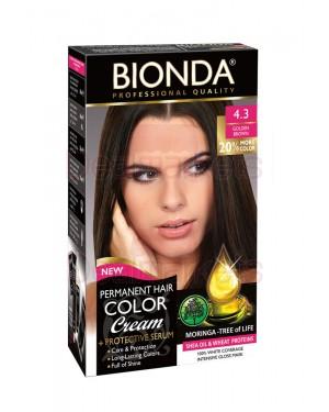 Βαφή μαλλιών μόνιμη Bionda Professional No4.3