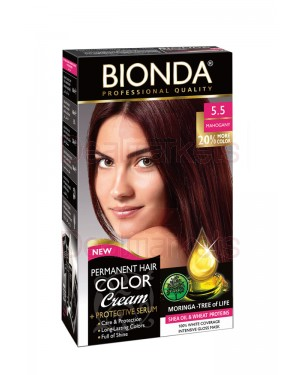 Βαφή μαλλιών μόνιμη Bionda Professional No5.5