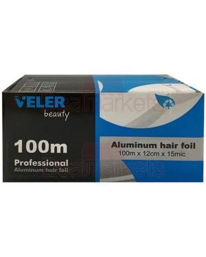 Veler beauty αλουμινόχαρτο κομμωτηρίου ρολό 100mx12cm