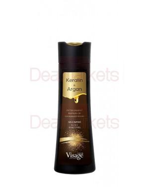 Visage σαμπουάν keratin & argan 250ml