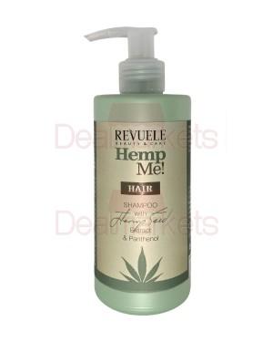 Revuele hemp me! σαμπουάν μαλλιών ενυδάτωσης με πανθενόλη & έλαιο κάνναβης με αντλία 250ml
