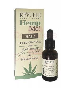 Revuele hemp me! liquid crystals λάδι μαλλιών για θρέψη με έλαιο κάνναβης & μακαδαμίας 30ml