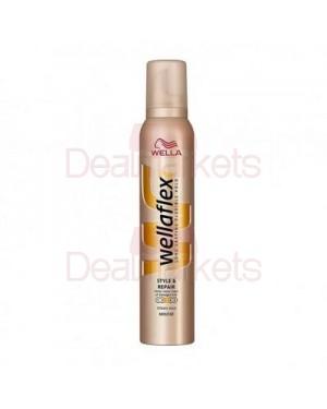 Wellaflex αφρός μαλλιών no3 style&repair 200ml (εισ)
