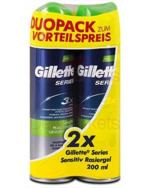 Gillette series gel sensitive duo pack 2x200ml