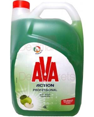 Ava action ξύδι και πράσινο μήλο 4l