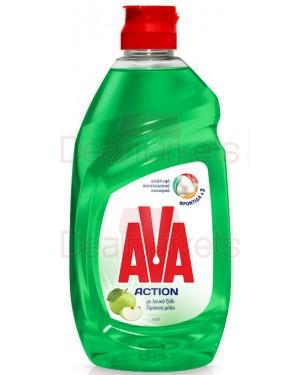 Ava action υγρό πιάτων λευκό ξύδι και πρ. μήλο 430ml