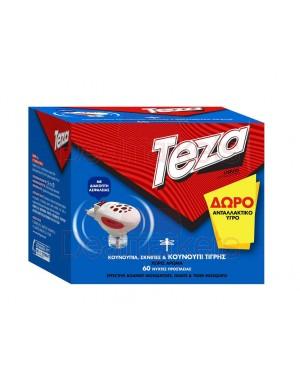 Teza συσκευή 2 σε 1 & δώρο υγρό αντ/κο για 60νυχτες