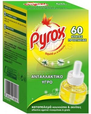 Pyrox υγρό ανταλλακτικό για 60 νύχτες