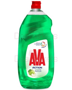 Ava action υγρό πιάτων λευκό ξύδι & πρ. μήλο 1500ml