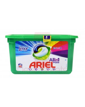 Ariel υγρές κάψουλες πλυντηρίου ρούχων 3 σε 1 touch of lenor color 40mεζ (ελλ.)