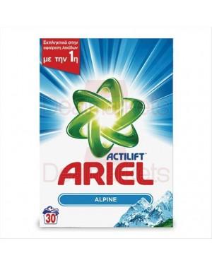 Ariel σκόνη πλυντηρίου alpine 30μζ 1,950kg (ελλ)